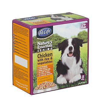 Hilife Nature's Essentials Dogfood Senior kylling Veg & ris 8pk 150g (pakke med 3)
