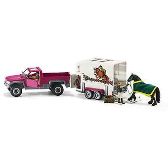 Schleich Pick Up With Horse Box (Toys , Dolls And Accesories , Miniature Toys , Vehicles)