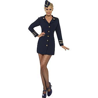 Stewardess costume blue racer stewardess costume