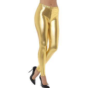 80s metallico discoteca oro pantacollant