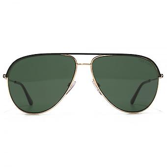 Tom Ford Erin Aviator Sonnenbrille In schwarz