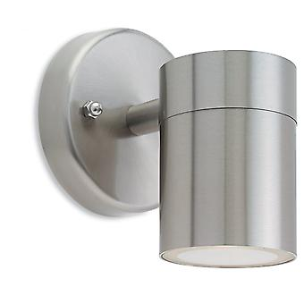 Firstlight Modern Stainless Steel Outdoor Wall Sconce Downlight