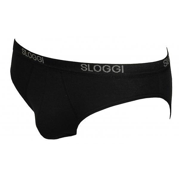 Sloggi 2-Pack Basic Mini Briefs, Black