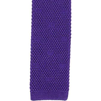 Michelsons of London Textured Spot Silk Knitted Tie - Purple