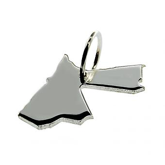 Trailer map Jordan pendant in solid 925 Silver