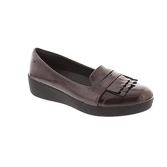 FitFlop Fringey Sneakerloafer - Deep Plum brevetto (viola) Womens Shoes