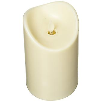 Modern Home Illumina Jr. Flameless Pillar Candle w/Moving Wick - Ivory