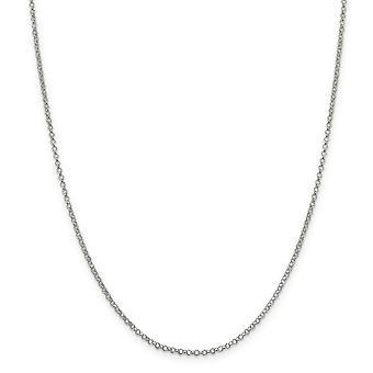 Sterling sølv polert hummer Claw nedleggelse 2mm Rolo kjeden ankel armbånd - hummer klo - lengde: 9-10