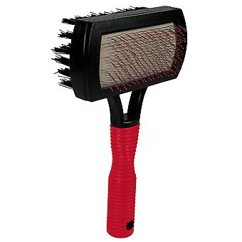 Trixie Plastic Soft Brush With Extra Soft Tipped Wire And Nylon Bristles For Dogs