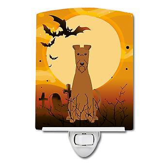 Carolines Treasures  BB4328CNL Halloween Irish Terrier Ceramic Night Light