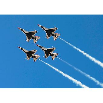 United States Air Force Aerial Demonstration Team The Thunderbirds Poster Print by Stocktrek Images