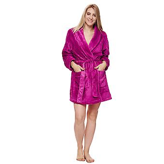 "DKNY SIGNATURE ROBE L/S 36"" ROBE DEEP ORCHID"