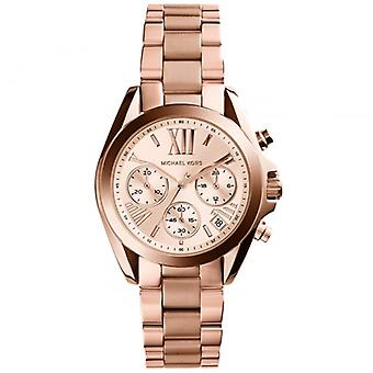 Michael Kors Watches Mk5799 Bradshaw Mini Rose Gold Tone Chronograph Ladies Watch