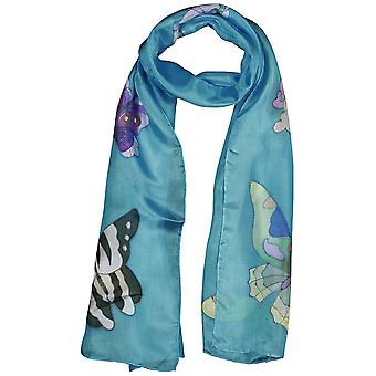 Invisible World Women's Hand-Painted 100% Silk Butterfly Scarf