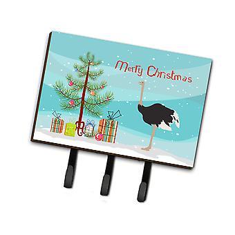 Каролинских сокровища BB9291TH68 общей страуса Рождество поводок или обладатель ключа