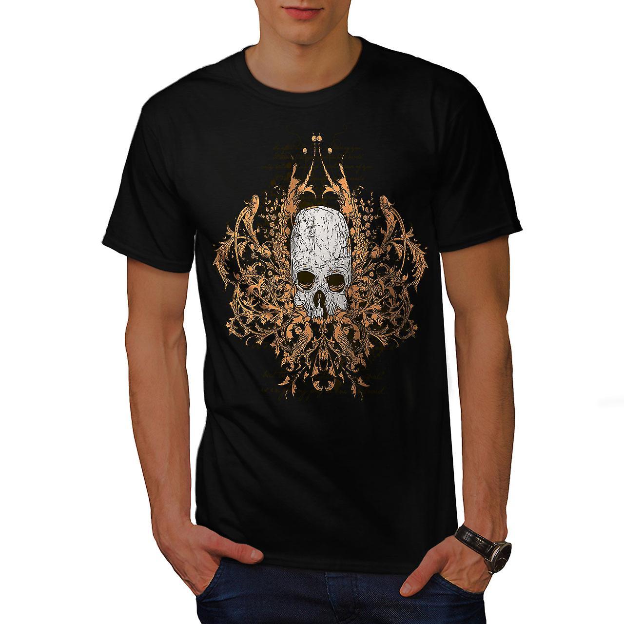 Death Metal Badass Skull Men Black T-shirt | Wellcoda