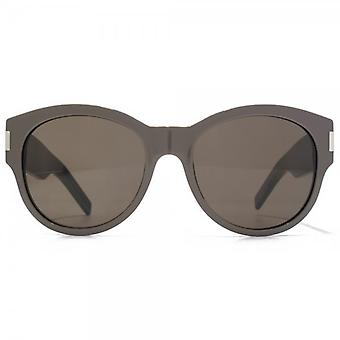Saint Laurent Bold Round Sunglasses In Grey