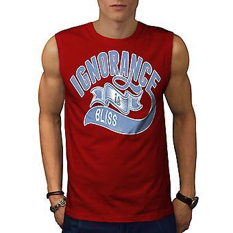 Unwissenheit ist Seligkeit Männer RedSleeveless T-shirt | Wellcoda
