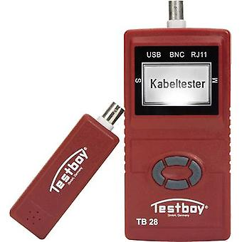 Testboy 28 Cable tester Suitable for USB, RJ11, RJ45 and BNC cables