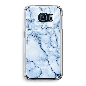 Samsung Galaxy S6 Transparent Case - Blue marble