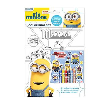 Minions colouring book