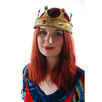 Kapelusze z tworzywa sztucznego korony złota Queen z brokatem