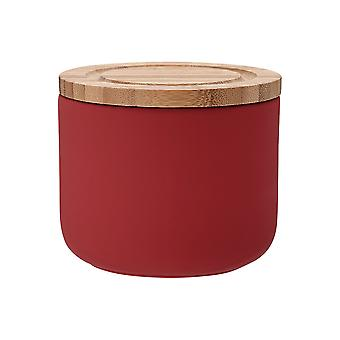 Ladelle Stak Soft Matt Red Canister, 9cm