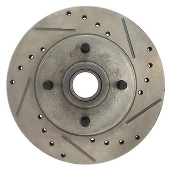 StopTech 227.61011L Select Sport Drilled and Slotted Brake Rotor; Front Left