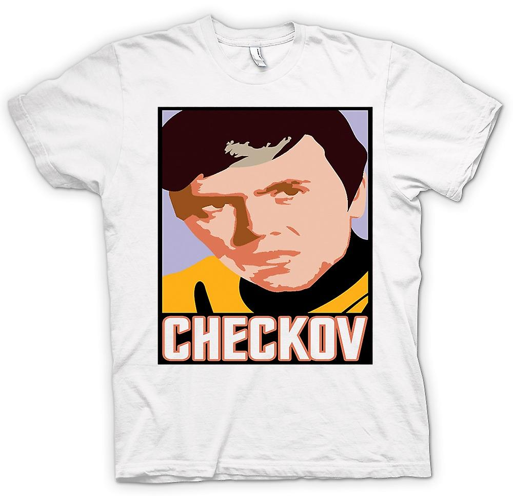 Heren T-shirt-Star Trek - popart - Checkov