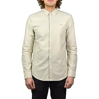 Farah Brewer Long-Sleeved Oxford Shirt (Almond)