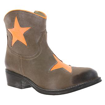 xyxyx real leather cowboy ankle boot women's Brown