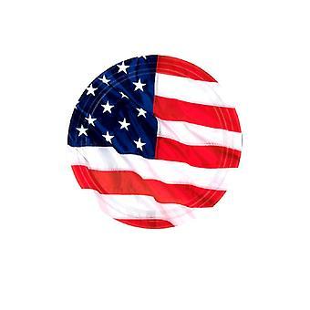 США флаг пластины