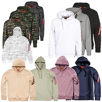Alpha industries Mäns Hooded tröja X-fit