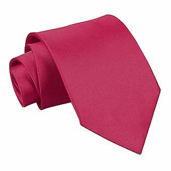 Crimson Red Plain Satin Classic Tie