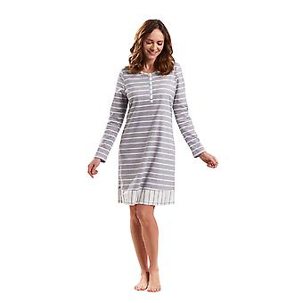 Rosch 1183545-12554 Women's Smart Casual Cloud grå stripete natt kjole Loungewear Nightdress