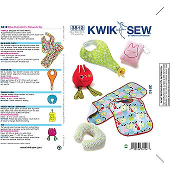 Bibs, Burp Cloth, Pillows & Toy-No Size -*SEWING PATTERN*