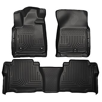 Husky Liners Front & 2nd Seat Floor Liners Fits 12-13 Tundra CrewMax Double Cab
