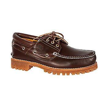 TIMBERLAND leather boat shoes 3 eye classic lug ladies Brown