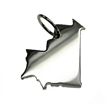 Trailer map Mauritania pendant in solid 925 Silver