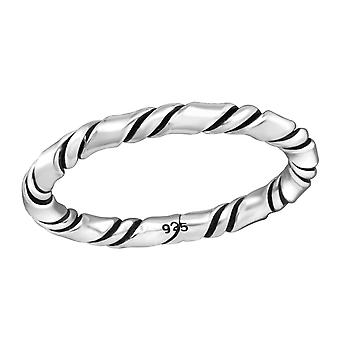 Rope - 925 Sterling Silver Plain Rings - W37946x