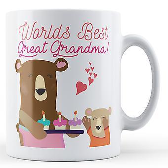 Welten am besten uroma! Teddybär - bedruckte Becher