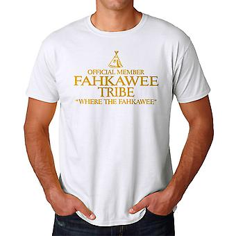 Funny Official Member Fahkawee Tribe Graphic Men's White T-shirt