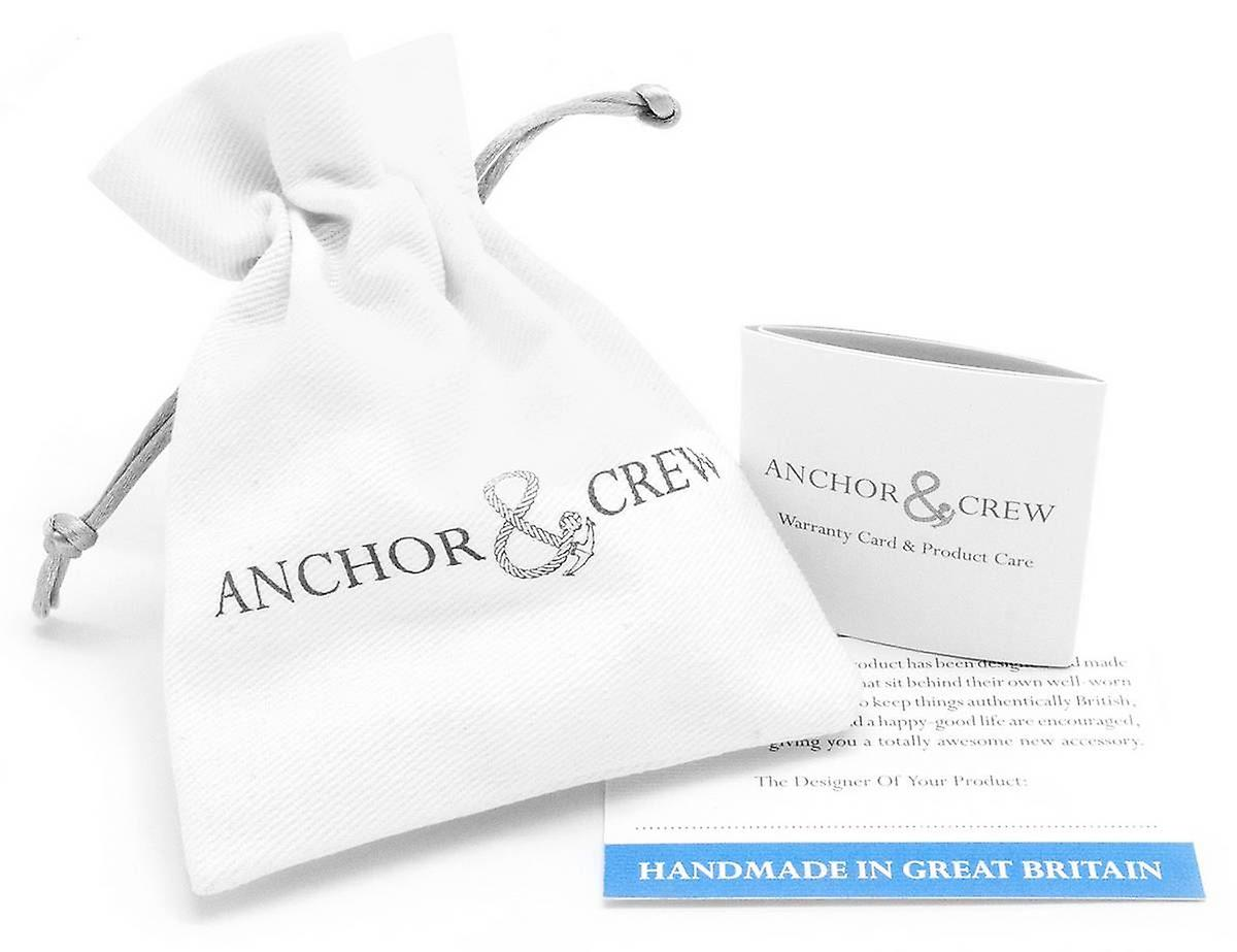 Anchor and Crew Union Silver and Rope Bracelet - Yellow Noir