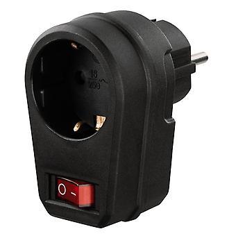 Hama Socket Adapter Switchable Black