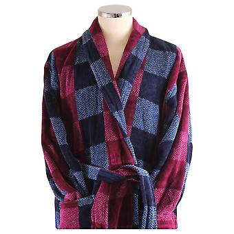 Bown of London Chester Check Dressing Gown - Blue/Black/Maroon