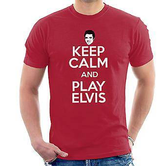 Keep Calm And Play Elvis Presley Men's T-Shirt