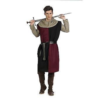 Medeltida riddare herr kostym rundabordskonferensen svärd fighter mens kostym