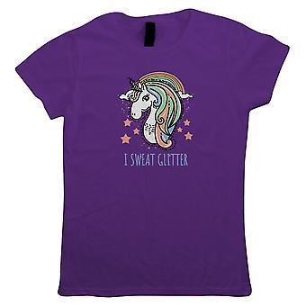 I Sweat Glitter Unicorn, Womens T Shirt