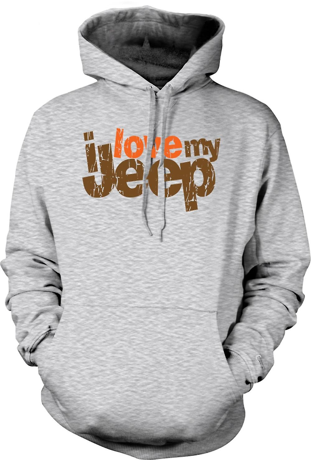 Mens Hoodie - I Love My Jeep - Car Enthusiast