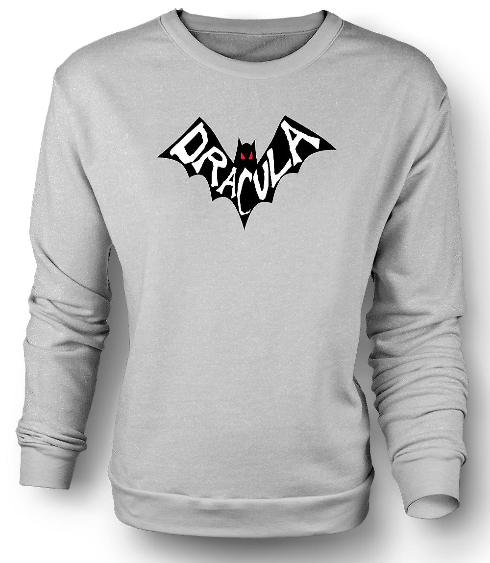 Mens Sweatshirt Dracula Bat - Funny Horror